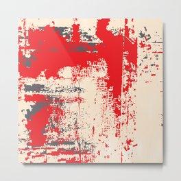 Grunge Paint Flaking Paint Dried Paint Peeling Paint Beige Gray Red Metal Print