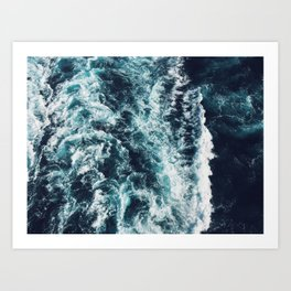 DARK BLUE OCEAN Art Print