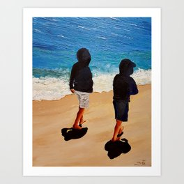 They love the unbelievable sea colors Art Print