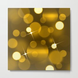 Elegant gold yellow abstract gradient bokeh Metal Print
