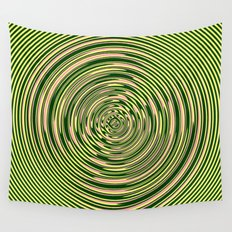 Warped Rings Wall Tapestry