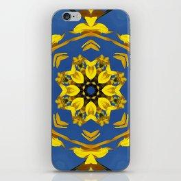 Yellow Coneflower, Ratibida, Kaleidoscope 793 #society6 #kaleidoscope iPhone Skin