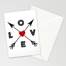 Love compass arrows Stationery Cards
