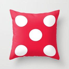 Dice 5 Throw Pillow