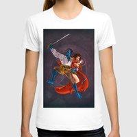 nightcrawler T-shirts featuring Nightcrawler & Scarlet Witch by Studio Acramill