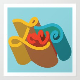 Love (Script) Art Print