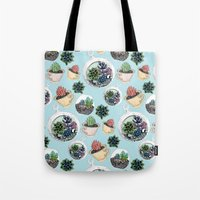 succulents Tote Bags featuring Succulents by Sofia Kraushaar