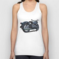 bmw Tank Tops featuring BMW R50 MOTORCYCLE by Ernie Young
