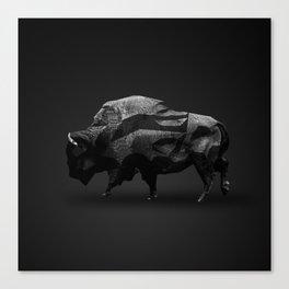 Bison - Augmented Canvas Print