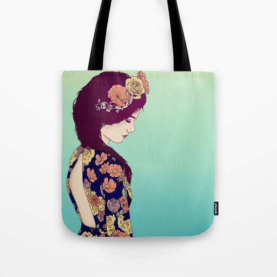Yellow Garden Lady Tote Bag