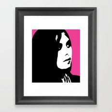 Jesi Meets Warhol Framed Art Print