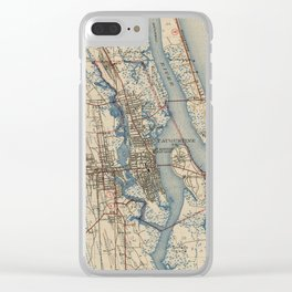 Vintage Map of St. Augustine Florida (1937) Clear iPhone Case