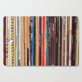 Indie Rock Vinyl Records Cutting Board