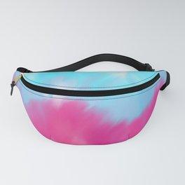 Modern hot pink blue aqua watercolor ikat pattern Fanny Pack