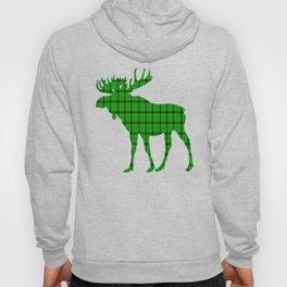 Plaid Moose: Green Hoody