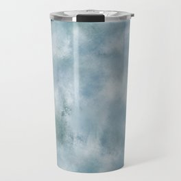 Blue dark green batic look Travel Mug