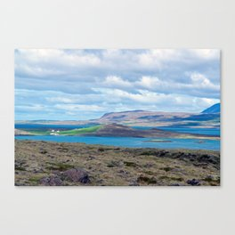 Iceland morning seascape Canvas Print
