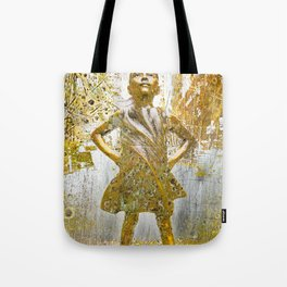 Fearless Girl Tote Bag