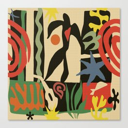 Inspired to Matisse (vintage) Canvas Print