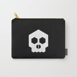 hex geometric halloween skull Carry-All Pouch