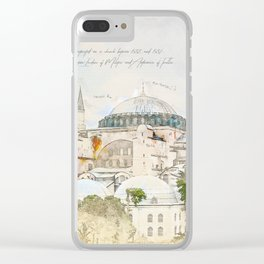 Hagia Sophia, Istanbul Clear iPhone Case