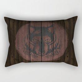 Wolf Shield Rectangular Pillow