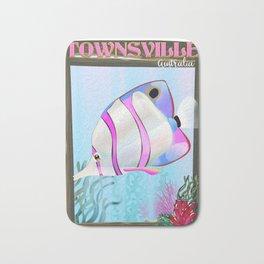 Townsville Australian travel poster Bath Mat