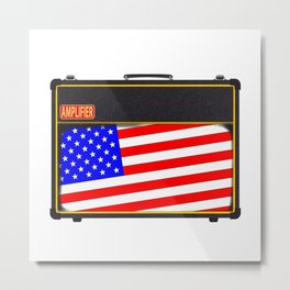 USA Rock Amplifier Metal Print