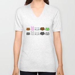 Crayon Animals Unisex V-Neck