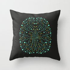 Brain Tech Throw Pillow