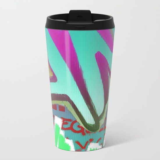 To Be Or Not To Be In Blue Metal Travel Mug