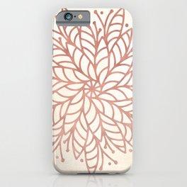 Flowery Rose Gold Mandala on Cream II iPhone Case