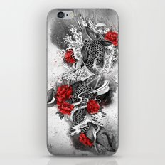 Two Kois and a river iPhone & iPod Skin