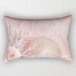 SEASHELL DREAMS | pink Rectangular Pillow