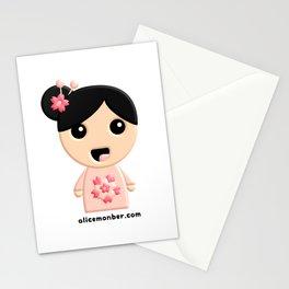 Emilie Kokeshi Doll Stationery Cards