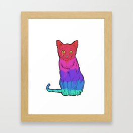 Graffiti Cat Framed Art Print