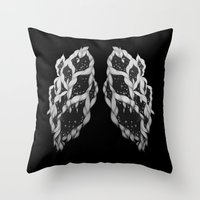 lungs Throw Pillows featuring Lungs by Sushibird