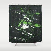 splatter Shower Curtains featuring splatter by JordanP85