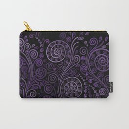 Violet 3D Psychedelic Ornaments Carry-All Pouch