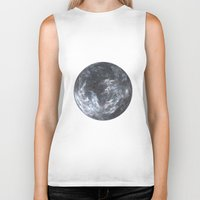 planet Biker Tanks featuring Planet by Design Art Helvetica and Abstract Art, m