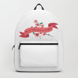 The sun will shine on us again Backpack