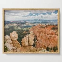 Rainbow Point at Bryce Canyon National Park Serving Tray