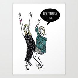 Turtle Time Art Print