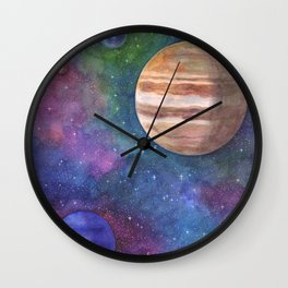 A Watercolor Illustration Called 'The Jupiters Group' Wall Clock