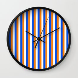 Team Colors 4... orange , blue  and white Wall Clock