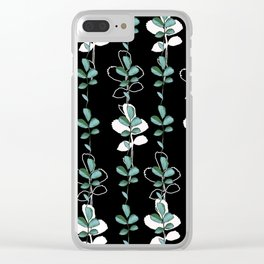 Midnight leves Clear iPhone Case