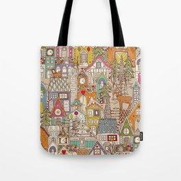 vintage gingerbread town Tote Bag