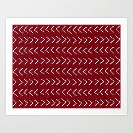 Arrows on Maroon Art Print