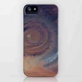 eye in the sky, eye in the desert   space 001 iPhone Case
