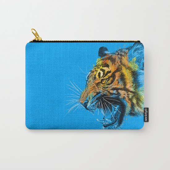Tiger Roaring Wild Animal Roar Carry-All Pouch